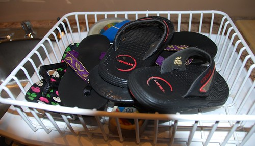drying flip flops