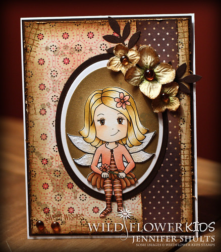 Sweet Wishes Grunge Card