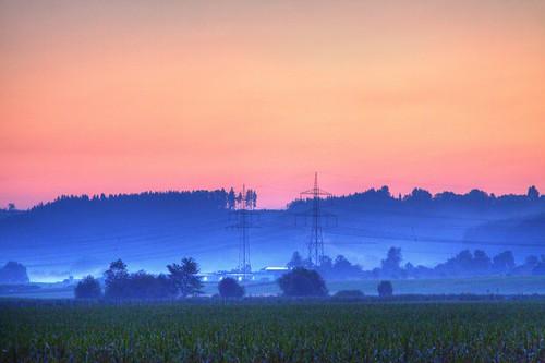 Morgengrauen im Alpenvorland
