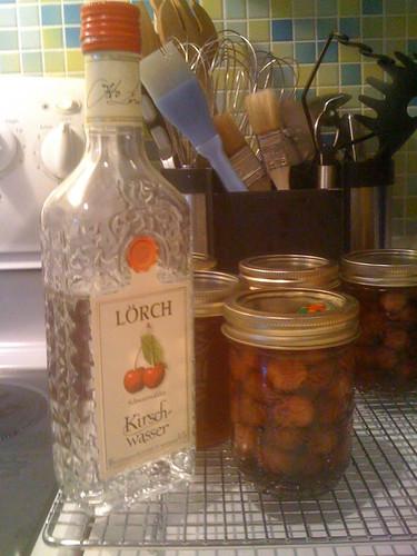 Drunken Sour Cherries