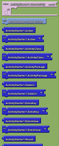 Google app inventor - activity starter