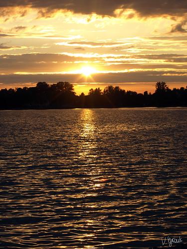 Sonnenuntergang in Wasserburg/Bodensee