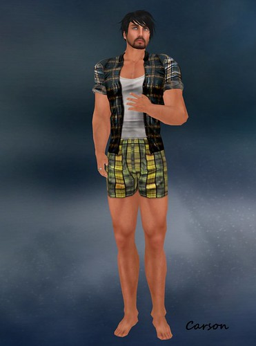 . WoE . Lunden Plaid Shirt Guys . WoE . Sol Boxers (Relish)(Hunt Blue)