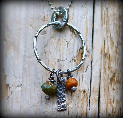 Sterling silver charmcatcher necklace
