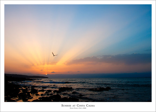SUNRISE AT COSTA CALMA