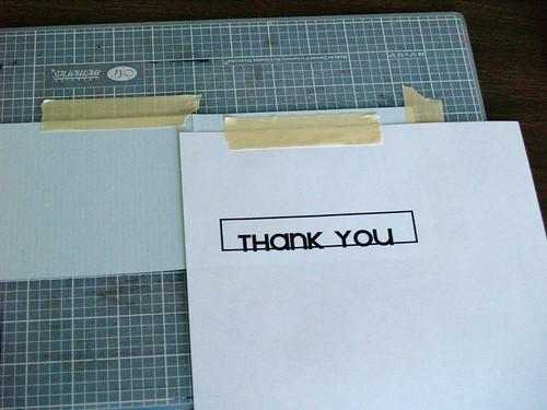 Thank You Card tutorial Step 2