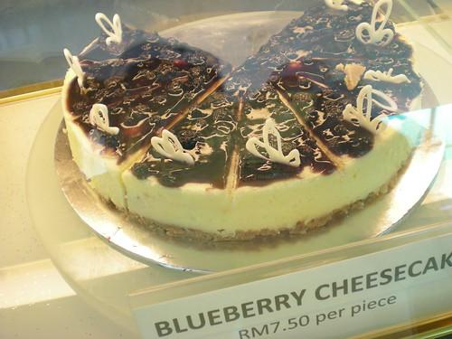 Nee's blueberry cheesecake