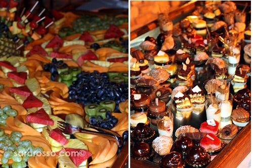 The dessert buffet at a Pugliese wedding in Abruzzo