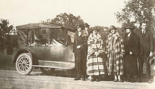 "9:22:1924-Eugene Nill and family-""notice my first car. 1914 Ford I bought for $500"" .jpg"