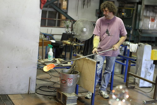 Simon Pearce glass blower, Windsor, VT