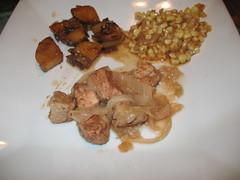 Pork Coriander Stew, Gamja Jorim & Spicy Stir-...