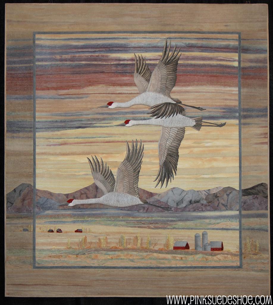 Sunset and Sandhill Cranes