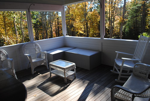 screened in porch ready for fall