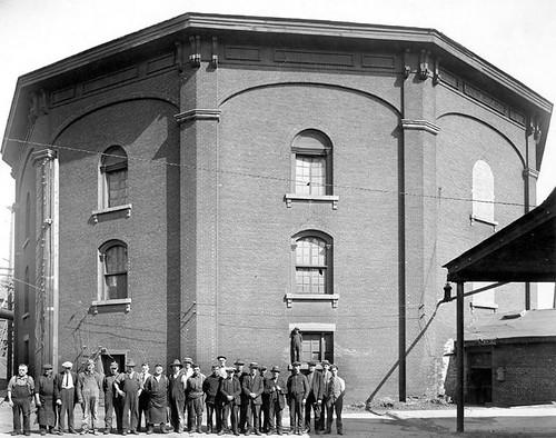 année1873 réservoir Hochelaga,dans l'est de Montréal.