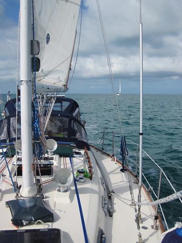 Sailing on the Bahama banks