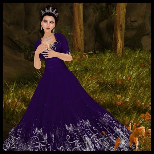 Sophie - Violet - Silver Trim