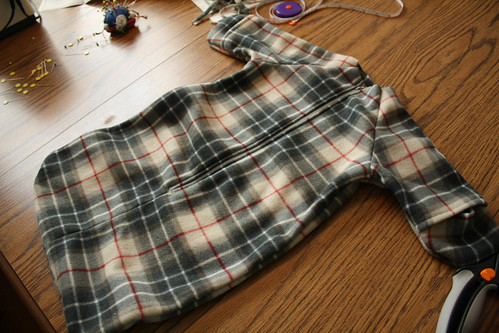plaid sack/bunting
