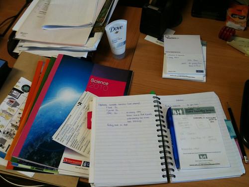 Work activities on my desk this week