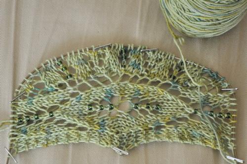Maia shawlette.