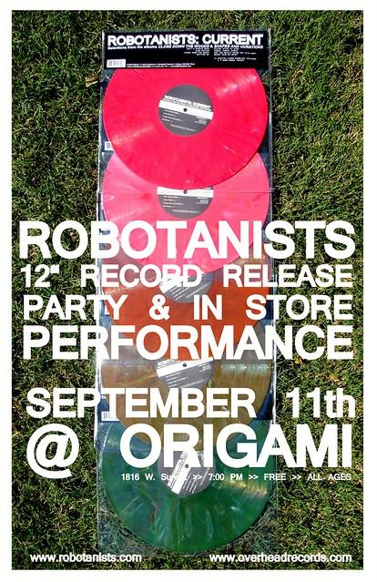 ROBOTANISTS: Record Release Show @ Origami Vinyl 9.11.2010