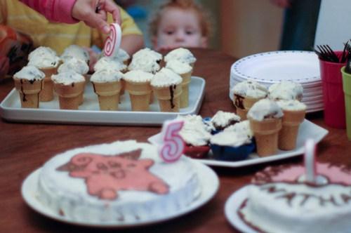triple birthday cakes...