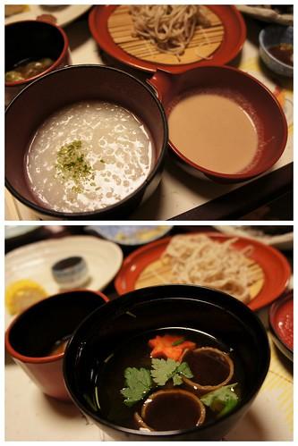 okayu and miso soup