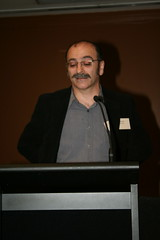 Tony Iezzi presenting about accessible library services