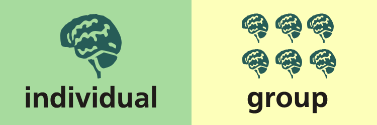 individual -v- group