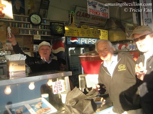 Paul Georgoulakos behind the counter on Paul's Daughter's last day. Photo © Tricia Vita/me-myself-i via flickr