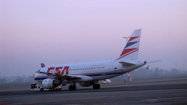 ČSA plane during taxi