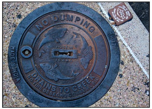 No Dumping - Drains to Creek