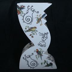Jenny Orchard. Zigzag vase c.1985