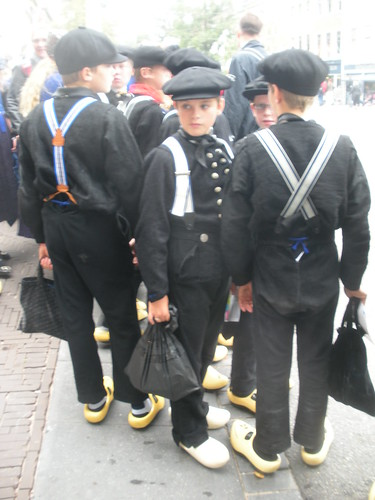 Dutch klomper boys off to see the Queen
