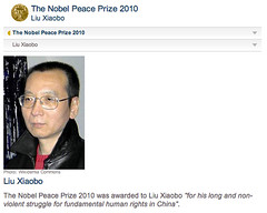 Liu Xiaobo (劉曉波), Winner of Nobel Peace Prize 2010