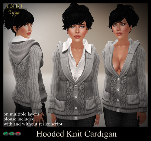Hooded-Knit-cardigan-grey
