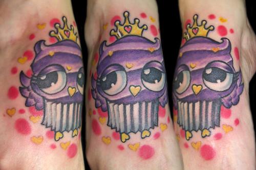 Cupcake Owl! by Vintage Karma Tattoo Studio