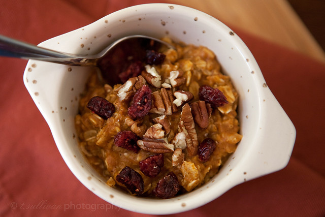 Microwave Pumpkin Pie Oatmeal
