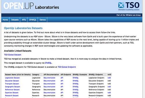 OPen Up Laboratories - http://openuplabs.tso.co.uk/