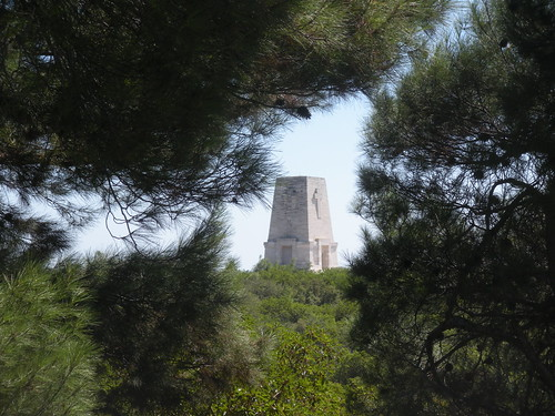 Lone Pine Monument above ANZAC Cove
