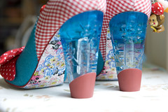 Glassy heels