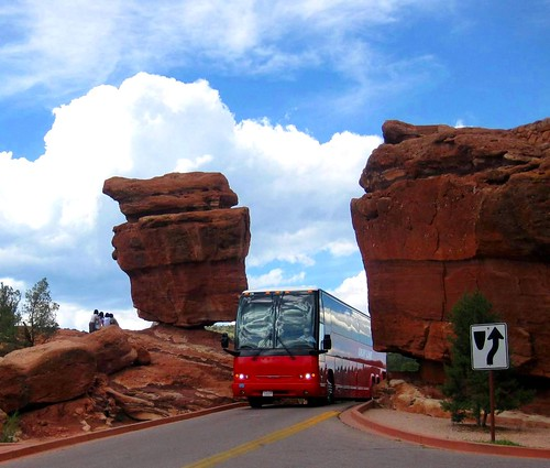 Bus and Balancing rock