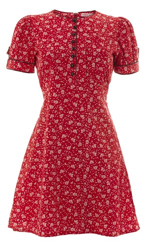 091 - Button It Dress - Red Heart Doily