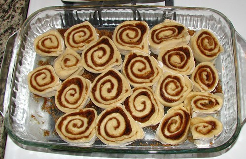 Cinnamon Rolls in Pan