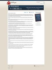 A Pledge to America - The Fall 2010 GOP Agenda...
