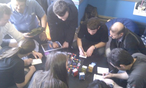 playing Cranium boardgame @ Cafe Games