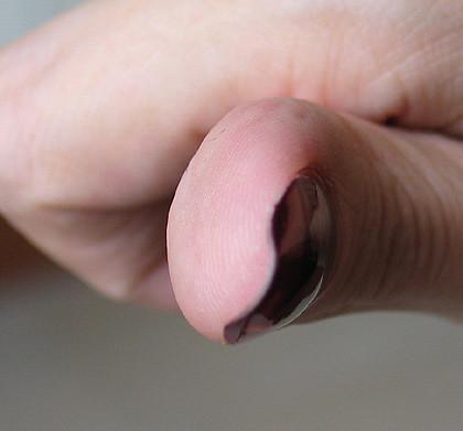 curving nail :(
