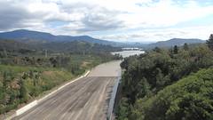 Eildon Dam spillway.