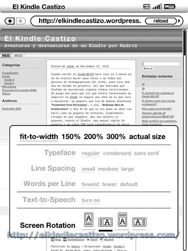 Captura de la pantalla del Kindle #2