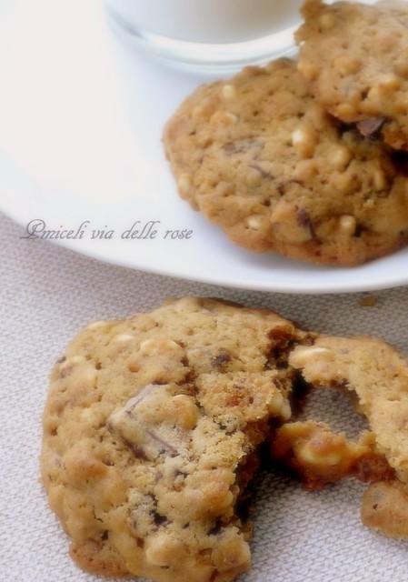 cookies chocolate rice krispie - Biscotti al riso soffiato e al cioccolato