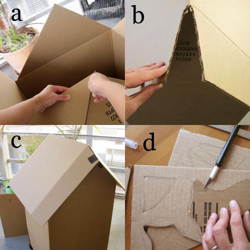 DIY Cardboard Haunted House Alpha Mom